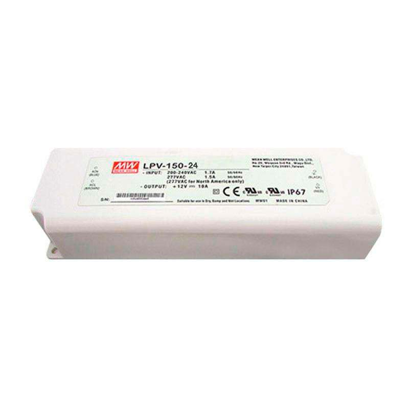 Adaptador de corriente Mean Well LPV-150-24, IP67, DC24V/150W/3.2A